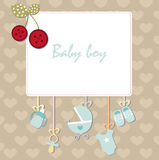 Frame baby boy Royalty Free Stock Photography