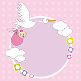 Frame baby girl Royalty Free Stock Images