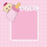 Frame baby girl Stock Photos