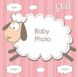 Frame for baby girl Stock Photo