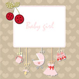 Frame baby girl Stock Images
