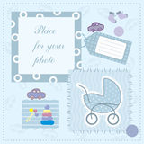 Frame for baby's photo Stock Images