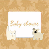 Frame Baby Shower Royalty Free Stock Images