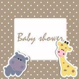 Frame baby shower stock illustration
