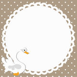 Frame baby shower Royalty Free Stock Photos