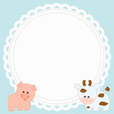 Frame baby shower Stock Photography