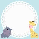 Frame baby shower Stock Image