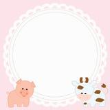 Frame baby shower Stock Photo