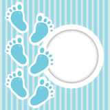 Frame with baby steps Royalty Free Stock Images