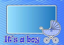Frame for baby stroller for the boy Stock Images