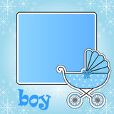 Frame for baby stroller for the boy Royalty Free Stock Photo