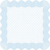 Frame with background. Square guilloche frame with background, thickness of lines can be changed easily Royalty Free Stock Image
