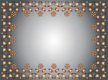 Frame background. Illustration,  frame,  decorative background brown coloured. See the rest in the series as well Royalty Free Stock Photo