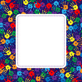 Frame with background of bright prints royalty free illustration