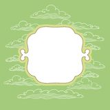 Frame with background from clouds - vector. Illustration stock illustration