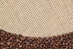 Frame background of coffee beans. Royalty Free Stock Photography