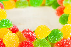 Frame a background  colorful sweets of sugar candies Stock Photos