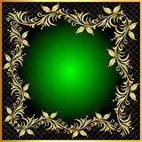 frame background with gold(en) Royalty Free Stock Photo