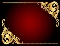 Frame background with gold(en) angular pattern stock images