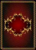 Frame background with gold(en) ornament Royalty Free Stock Photography