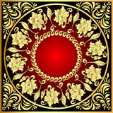 Frame background with gold(en) pattern with flower Royalty Free Stock Photos