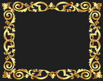 Frame background with gold vegetable pattern Royalty Free Stock Photography