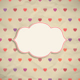 Frame on background with hearts Stock Images
