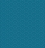 Frame background of spatial cubes. Royalty Free Stock Photo