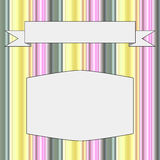 Frame with a background of stripes in pastel colors. Vector illustration Royalty Free Stock Photos