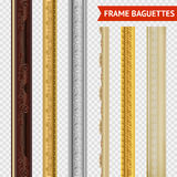 Frame Baguette Set Royalty Free Stock Photos