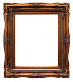 Frame from baguette on white. Frame from baguette  on white background Royalty Free Stock Image