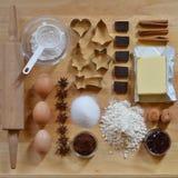 Frame of baking ingredients Royalty Free Stock Image