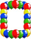 Frame balloons Royalty Free Stock Images