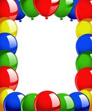 Frame balloons Stock Photography