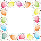 Frame with balloons Royalty Free Stock Photography
