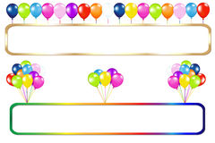 Frame With Balloons Bunches. Vector Royalty Free Stock Images