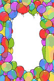 Frame from balloons Stock Photos