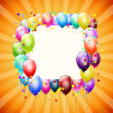 Frame with balloons and stars Stock Images