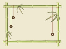 Frame of bamboo Stock Images