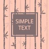 Frame on bamboo background. Vector illustration stock illustration
