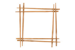 Frame of bamboo chopsticks Royalty Free Stock Images