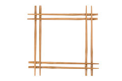 Frame of bamboo chopsticks Royalty Free Stock Image
