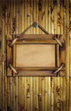Frame on the bamboo wall Stock Photography