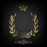 frame banner with crown Royalty Free Stock Image
