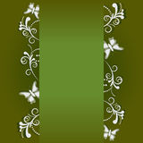 Frame banner with ornate. Beautiful frame banner with ornate wallpaper background royalty free illustration