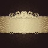 Frame banner with ornate wallpaper background Stock Images