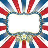 Frame banner with stars. For designers Royalty Free Stock Photo