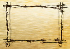 Frame from barbed wire Stock Images