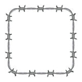 Frame barbed wire Royalty Free Stock Images