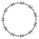 Frame barbed wire Royalty Free Stock Image
